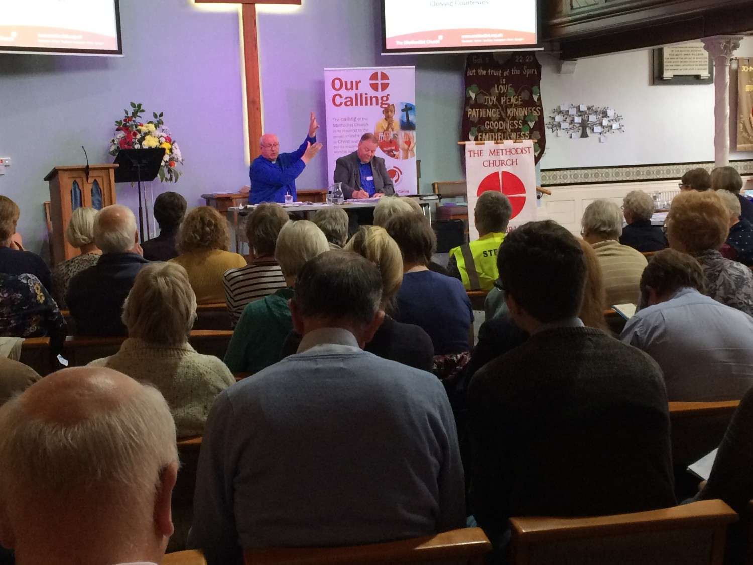 Rev Richard Teal addressing the September Synod of Cumbria District Methodist Church