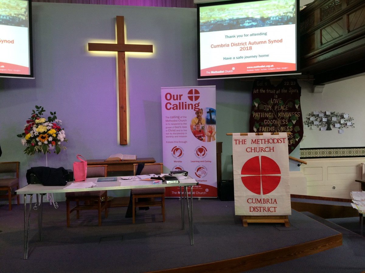 Cumbria District Synod held at Stricklandgate Methodist Church, September 2018